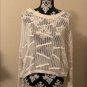 White over sized sweater